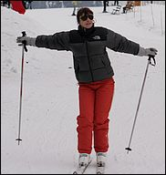 bibi sur les skis